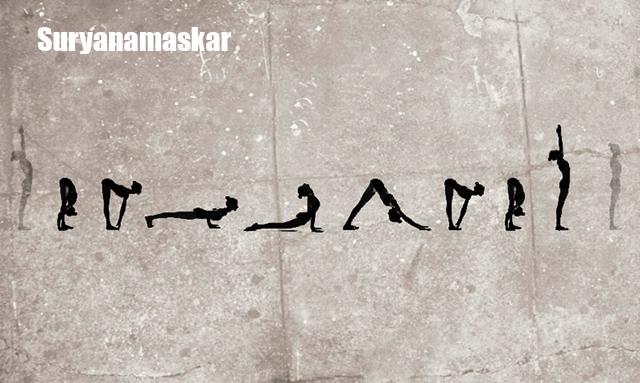 SuryaNamaskar yoga para conseguir un vientre plano 2