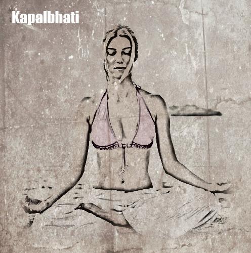 yoga para conseguir un vientre plano Kapalbhati Pranayama 2