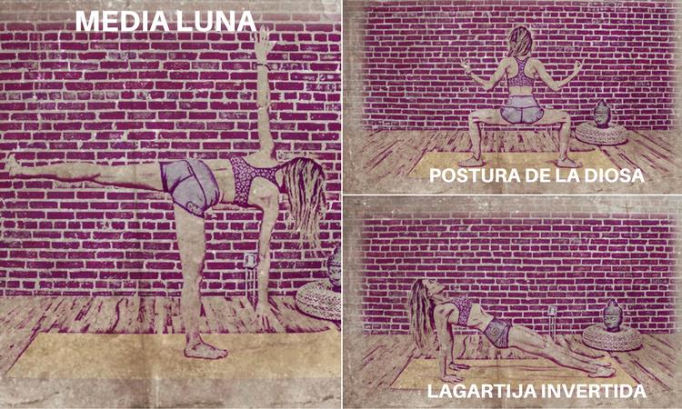 posturas de yoga para glúteos mediano