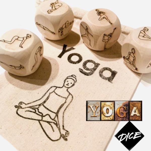 Juego de dados posturas de yoga 4